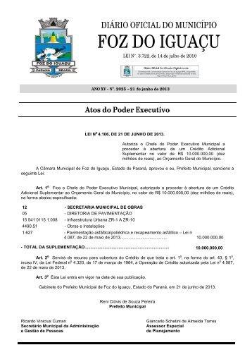 Edição Nº. 2025 de 21 de junho de 2013 - Portal do Servidor