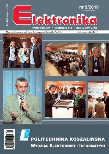 Elektronika 2010-09 I.pdf - Instytut Systemów Elektronicznych