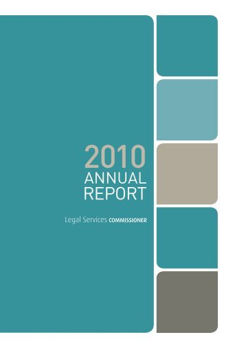 Annual Report 2009-10 - Legal Services Commissioner