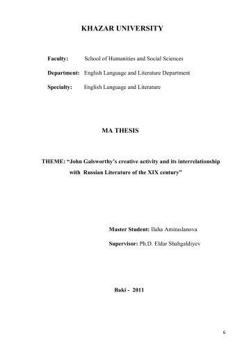 Ilaha Amiraslanova Galsworthy.pdf - DSpace at Khazar University