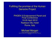 Fulfulling the promise of the Human Genome Project - PHGEN