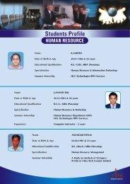 PROFILES- HR - Rai Business School