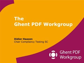 An introduction to the GWG - Ghent Workgroup
