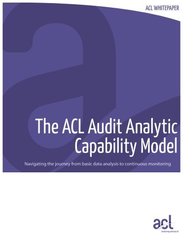 ACL Audit Analytic Capability Model - Acl.com