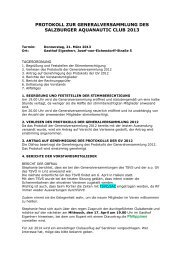 Dokumente/Protokoll GV 2013 - sac1980.org