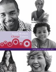 Social Workers Change Futures - National Association of Social ...