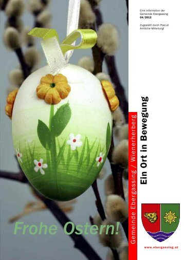 Newsletter April 2012 - Gemeinde Ebergassing