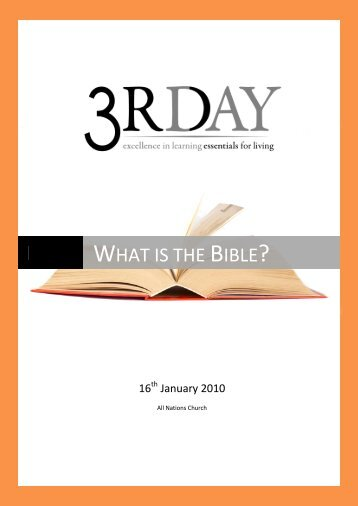 what is the bible? - All Nations Church - World Map Selection Page