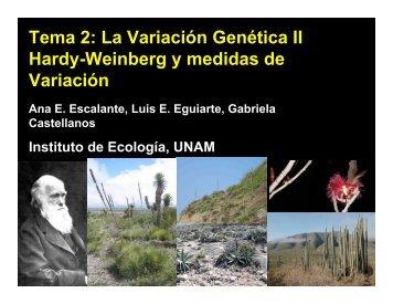 Presentación 5. Equilibrio Hardy-Weinberg - Instituto de Ecología