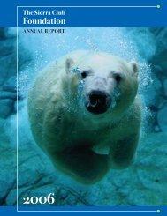 2006 - The Sierra Club Foundation