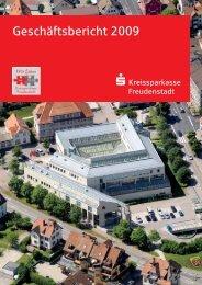 Geschäftsbericht 2009 - Kreissparkasse Freudenstadt