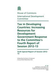 Tax in Developing Countries: Increasing Resources for ... - ICTD