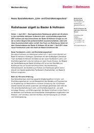 Medienmitteilung als pdf - Basler & Hofmann