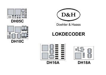 Lokdecoder DH05C, DH10C und DH16A - Doehler & Haass