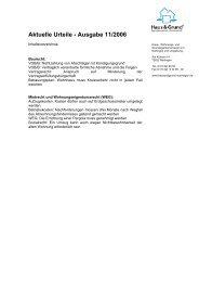 Aktuelle Urteile - Ausgabe 11/2006 - Haus  & Grund Nürtingen