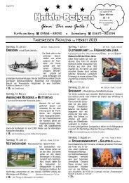 Tagesfahrten - nähere Informationen hier... - Haida-Reisen