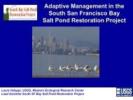Adaptive Management in the South San Francisco Bay Salt Pond ...
