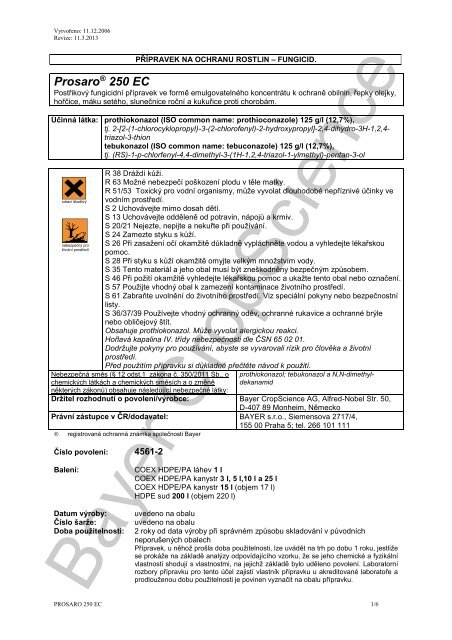 Prosaro 250 EC - Bayer CropScience