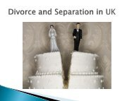 divorce and separation in UK