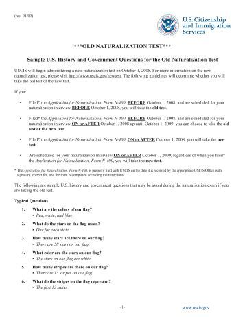 Us citizenship test questions and answers 2013 pdf