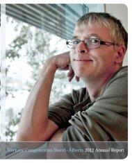 Workers' Compensation Board–Alberta 2012 Annual Report