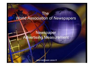 And more! - World Association of Newspapers