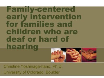 Family-centered early intervention for families and ... - FCEI 2012