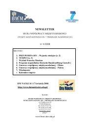 NEWSLETTER - Biuro Współpracy Międzynarodowej UKW