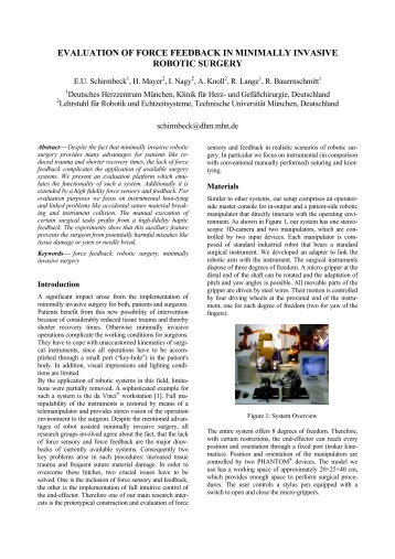 evaluation of force feedback in minimally invasive robotic surgery