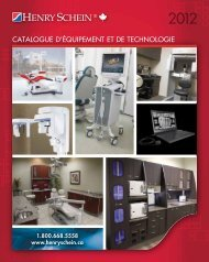 CATALOGUE D'éQUIPEMENT ET DE TECHNOLOGIE - Henry Schein