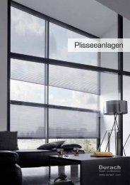 Prospekt Plisseeanlagen - Durach GmbH