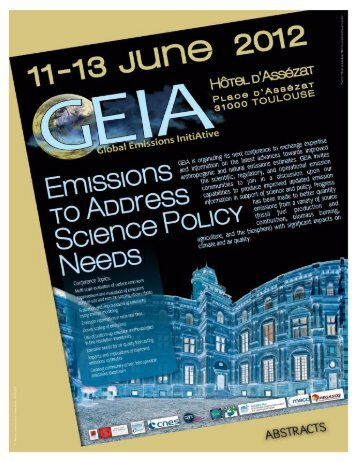 15th GEIA Conference Emissions to Address Science & Policy ...