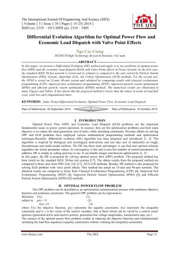 Differential Evolution Algorithm for Optimal Power Flow and Economic Load Dispatch with Valve Point Effects