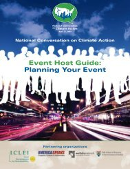 Event Host Guide - ICLEI Local Governments for Sustainability USA