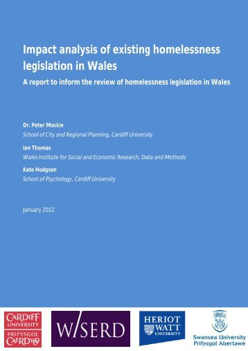 Impact analysis of existing homelessness legislation in Wales PDF ...
