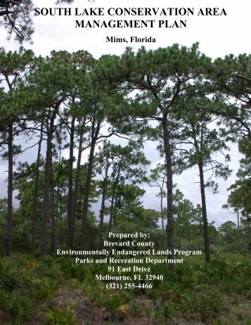 south lake conservation area management plan - Brevard County