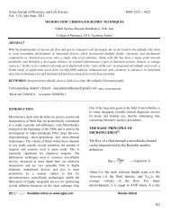 Asian Journal of Pharmacy and Life Science ISSN 2231 – 4423 Vol. 1
