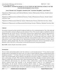antipyretic and phytochemical evaluation of the ethanol