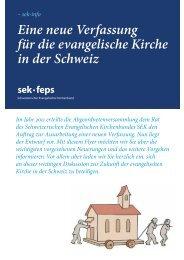 Flyer - Schweizerischer Evangelischer Kirchenbund SEK