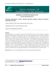 DIURETIC ACTIVITY OF EXTRACT OF SALVIA OFFICINALIS L ...