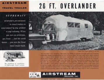 26 FT.· OVERLANDER - Airstream