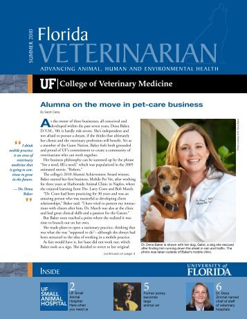 Florida Veterinarian, Summer 2010 (PDF) - University of Florida ...