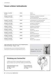 GEMEINDEzeitung der Martin-Luther-Gemeinde Juni/Juli 2012 Teil 2