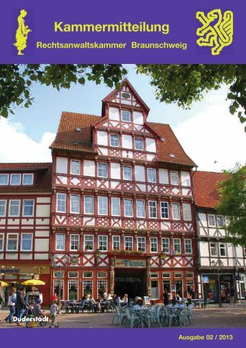 Kammermitteilung 02- 2013 - Rechtsanwaltskammer Braunschweig