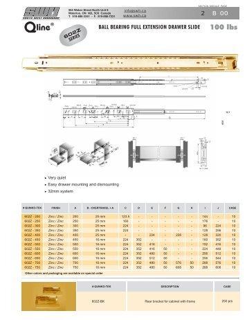 B - Q line ® ball-bearing slides