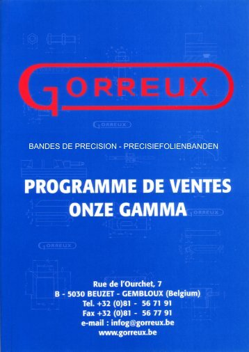 BANDES DE PRECISION - PRECISIEFOLIENBANDEN - Gorreux