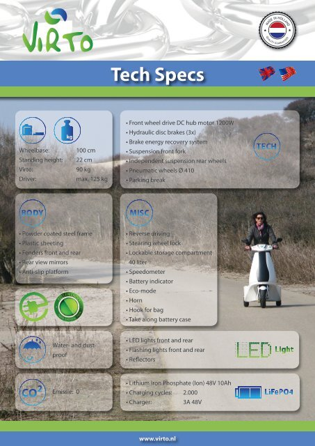Technische Spezifikationen - M-Products