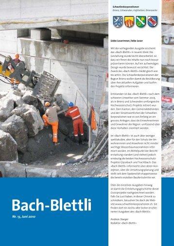 Nr. 13, Juni 2010 - schwellenkorporationen.ch
