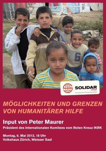 Flyer - Solidar Suisse