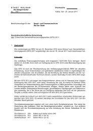 9/141 - Haushaltswirtschaftliche Entwicklung - in Kalkar